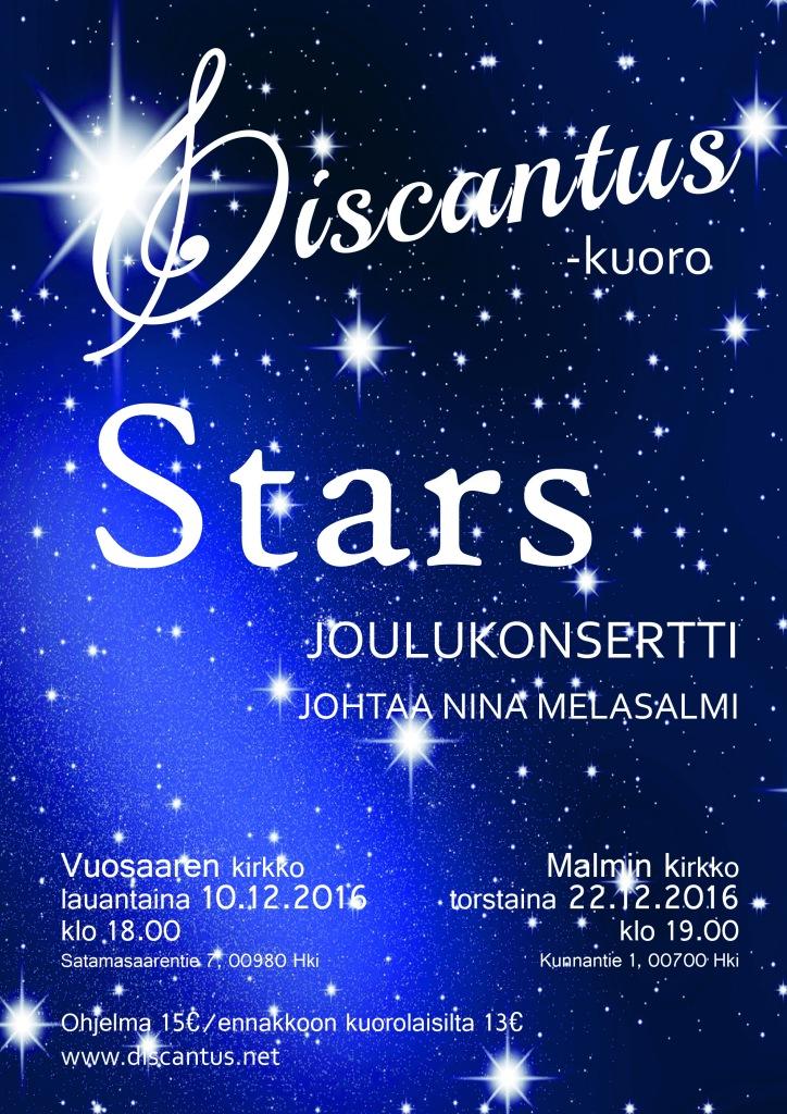 Discantus-kuoron joulukonsertti 10.12.2016